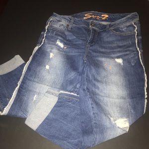 Seven7 Jeans - NWOT Seven 7 distressed ankle skinny jeans